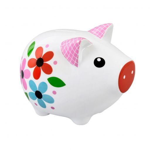 Tirelire cochon happy girl derri re la porte achat for Decoration derriere la porte