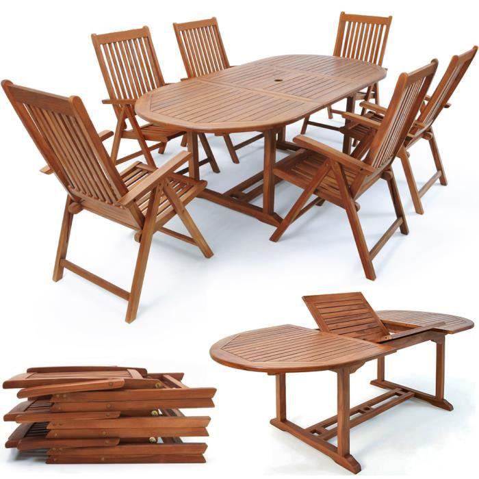 6+1 alu Salon mobilier de jardin Salon de Jardin Table Chaise Salle Ensemble de jardin