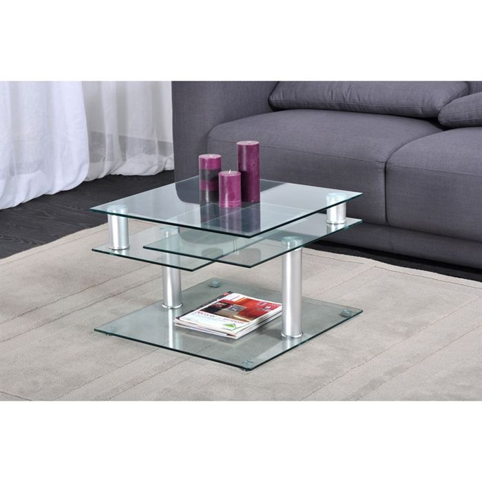 dino table basse transparente multi positions meubles bon prix moncornerdeco. Black Bedroom Furniture Sets. Home Design Ideas