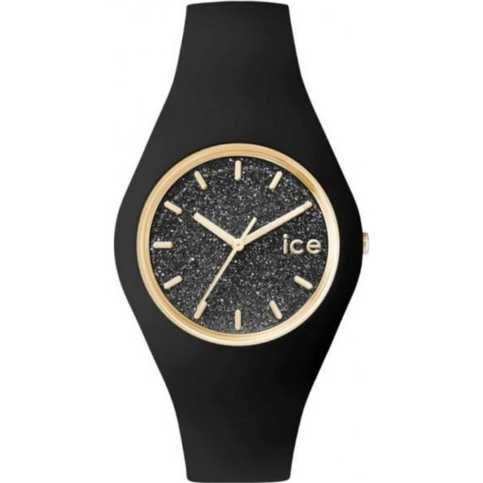 montre ice watch glitter unisex noir et paillettes achat vente montre montre ice watch. Black Bedroom Furniture Sets. Home Design Ideas