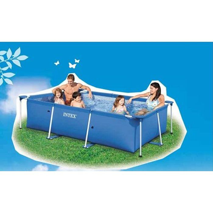 Piscine tubulaire rectangulaire intex 3m achat vente kit piscine piscine - Piscine tubulaire discount ...
