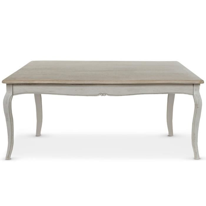 Table basse rectangulaire helena beige achat vente for Table basse laquee beige