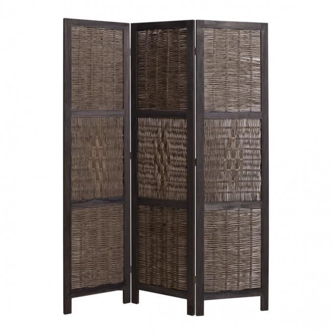 paravent 3 panneaux bois achat vente paravent 3. Black Bedroom Furniture Sets. Home Design Ideas