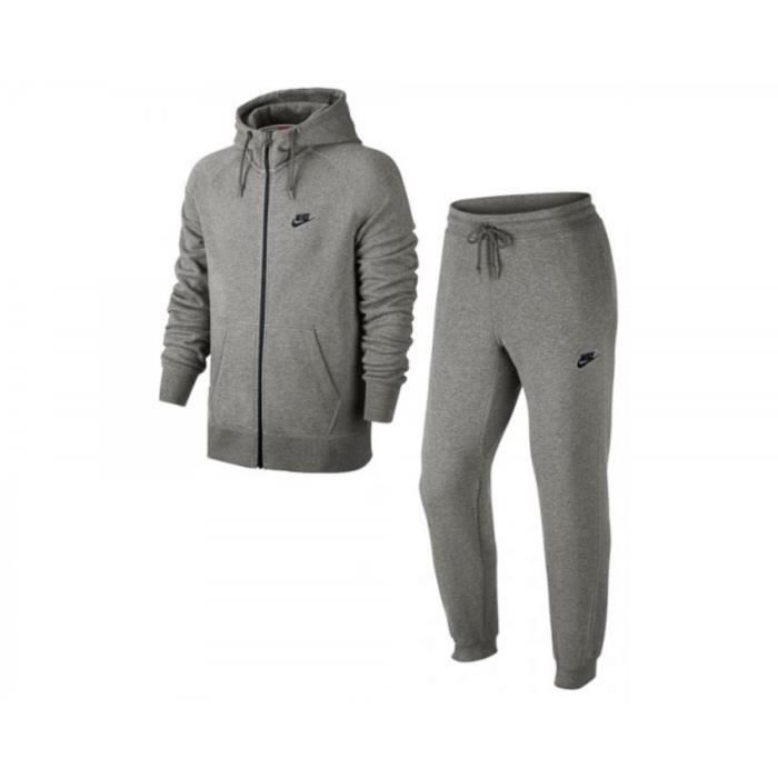le sport vetements de ensemble survetement nike aw fleece hoody  f mp