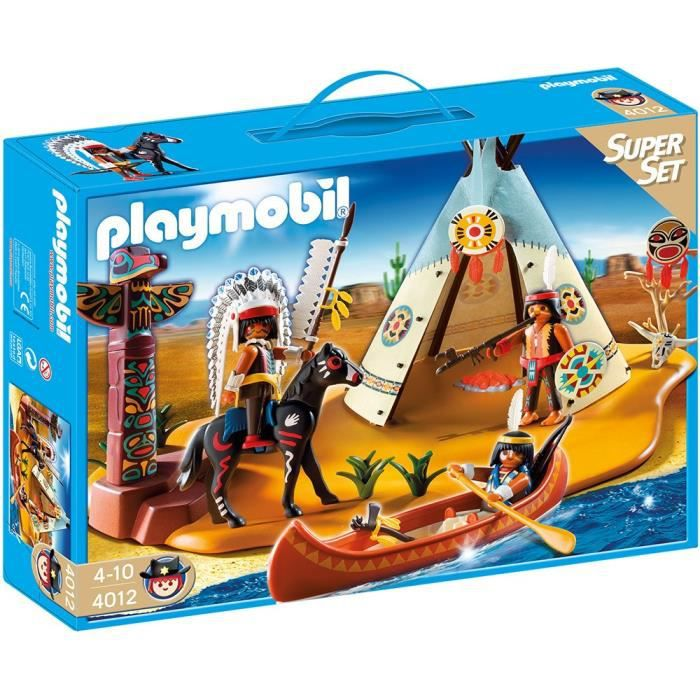playmobil 4012 superset campement des indiens achat. Black Bedroom Furniture Sets. Home Design Ideas