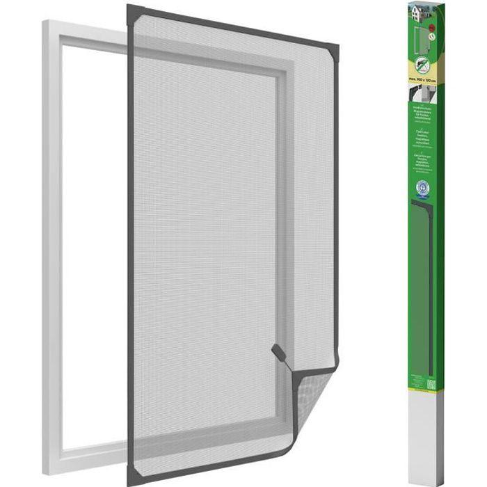 Easy Life Protection Insectes Fenêtre Alu Moustiquaire 130 x 150 cm ProLine blanc sans aucun