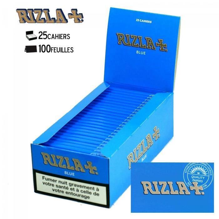 BLEU x 10 PAPIER A ROULER RIZLA ocb raw slim tube filtre