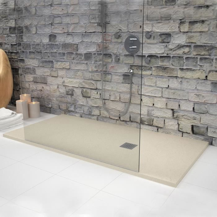 receveur de douche 160 x 90 cm extra plat strato beige achat vente receveur de douche. Black Bedroom Furniture Sets. Home Design Ideas