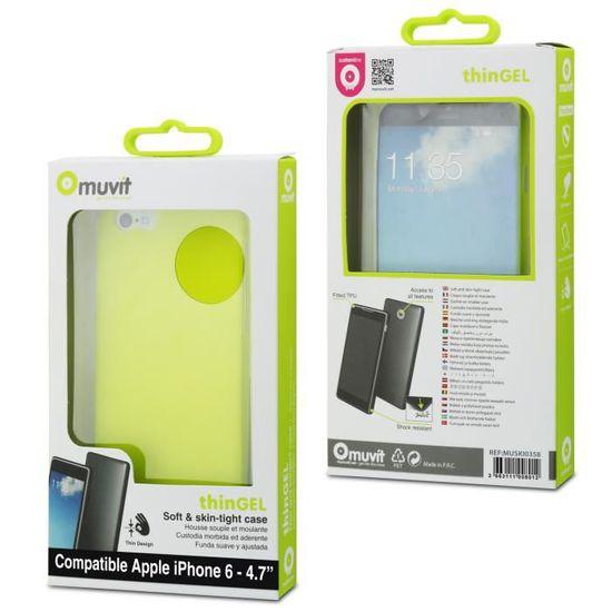 MUVIT Coque Thingel Vert Citron Apple Iphone 6-6s