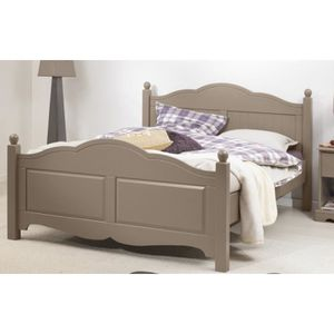 SOMMIER Lit Taupe 2 places 140x190 Sommier Matelas