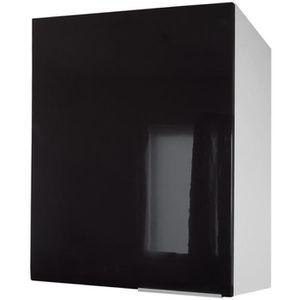 ÉLÉMENTS HAUT POP Meuble haut de cuisine L 60 cm - Noir Haute br
