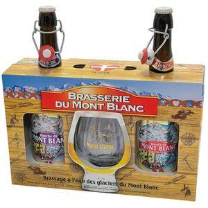 BIÈRE MONT BLANC Coffret bières blondes 2x 75 cl + 1 ver