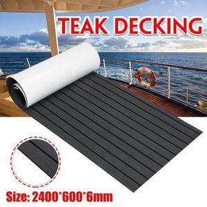 marron fonc/é Teak-Yacht Rev/êtement de sol en mousse EVA pour Yacht Wohnmobil 240 x 90 x 0,6 cm Marron fonc/é