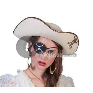 Chapeau TRICORNE Noir Déguisement Garçon Fille Pirate Marquis NEUF pas cher