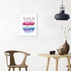 Moderne Flamingo Aquarelle Peinture Décorative Mural Simple