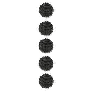 BANDEROLE - BANNIÈRE Guirlande de 5 boules alvéolées à suspendre - Noir