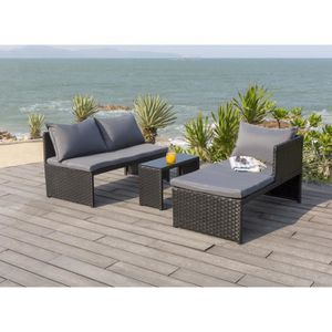 salon de jardin achat vente salon de jardin pas cher cdiscount. Black Bedroom Furniture Sets. Home Design Ideas