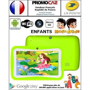 TABLETTE ENFANT Tablette enfant, tactile, Vert, 4 Go, Android 4.1
