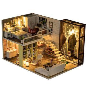 MAISON POUPÉE Ohlala Maison de Poupée Bricolage 3D DIY avec LED,
