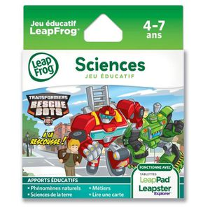 JEU CONSOLE EDUCATIVE TRANSFORMERS Jeu LeapPad / Leapster