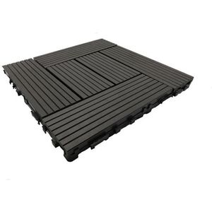 REVETEMENT EN PLANCHE Pack dalle de terrasse 1m² bois composite classic