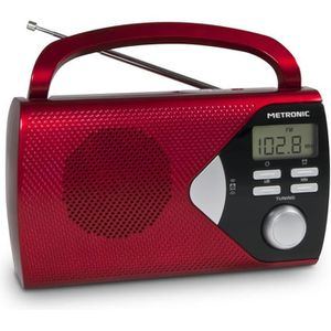 RADIO CD CASSETTE MET 477201 Radio portable Rouge