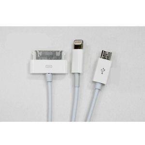 CÂBLE INFORMATIQUE Cable USB universel blanc compatible Apple & mi…