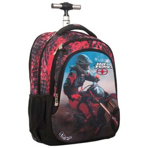 CARTABLE Sac à roulettes No Fear Red Motocross 48 CM - Cart
