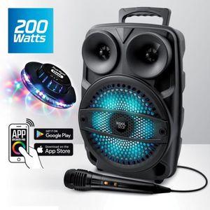 ENCEINTE ET RETOUR Enceinte Mobile 200W SONO DJ High Power Autonome s