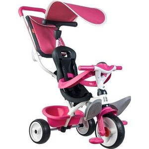 TRICYCLE SMOBY Tricycle Baby Balade Roues Silencieuses Rose