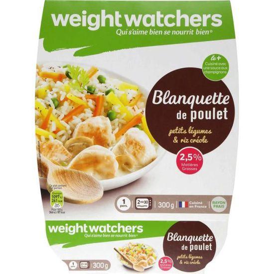 Weight Watchers Blanquette De Poulet Petits Legumes Et Riz Creole