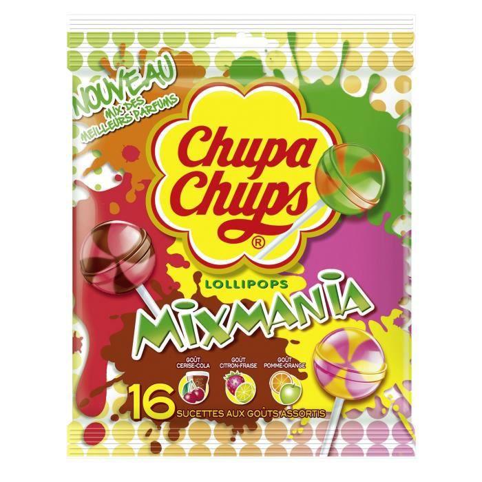CHUPA CHUPS Sucettes Mixmania - 192 g