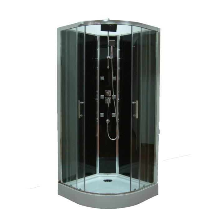 cabine de douche woman hydromassante thermostatique 1 4 de cercle 90x90 cm vendu par leroy. Black Bedroom Furniture Sets. Home Design Ideas