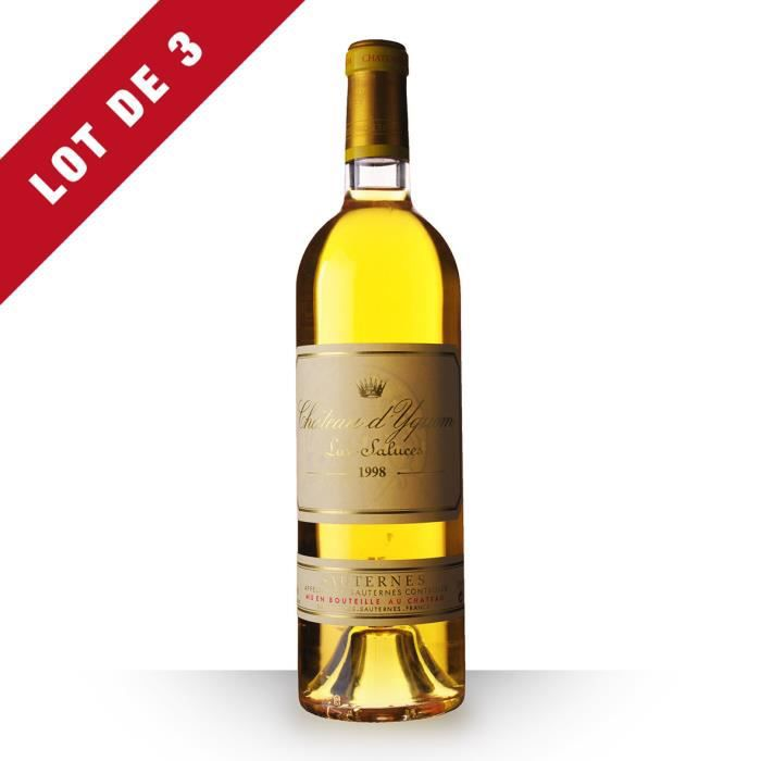 3X Château d'Yquem 1998 Blanc 75cl AOC Sauternes - Vin Blanc