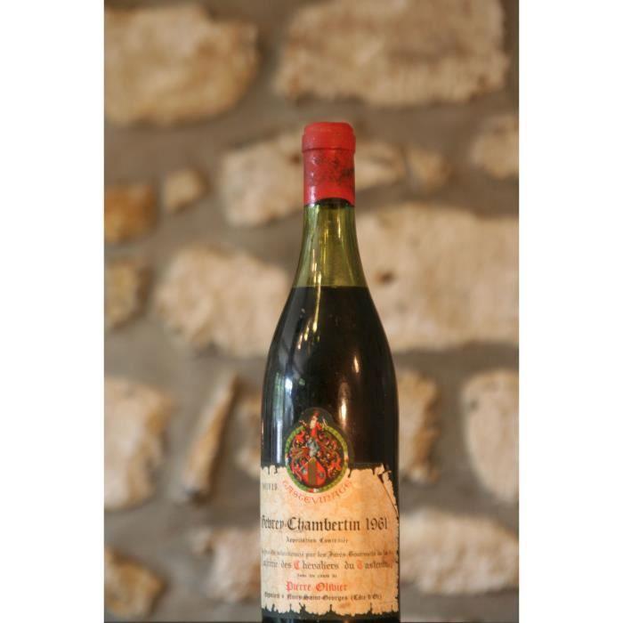 Vin rouge, Confrérie des Chevaliers du Tastevin, Pierre Olivier 1961 Rouge