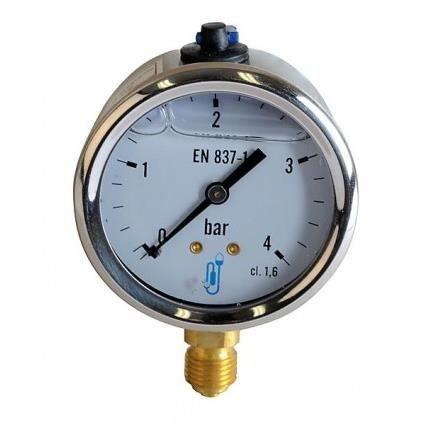 Manomètre fioul eau air - Manomètre glycérine 0-4 bar diamètre 63mm