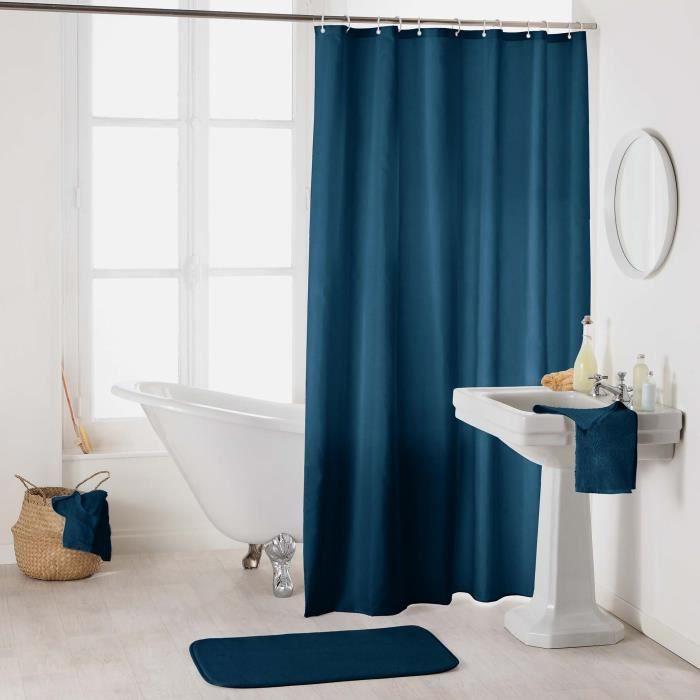 Rideau de douche Essencias Bleu Nuit