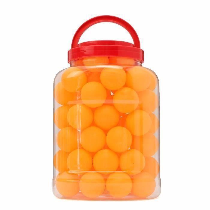WANG TEMPSA lot de 60Pcs Balle de Ping Pong Tennis Table Pour Enfant sport jouet noel jaune