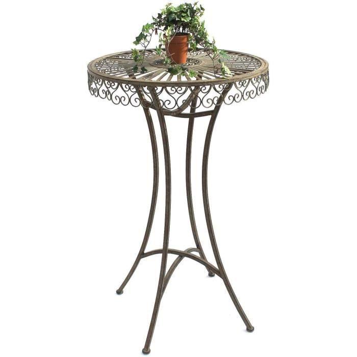DanDiBo 130414 Table de jardin en métal antique 106 x 65 cm[503]