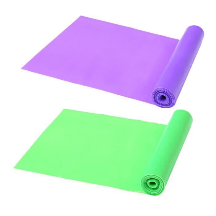 6 pièces bande de résistance extensible élastique de qualité supérieure sangle de Yoga d'étirement de remise en forme pour