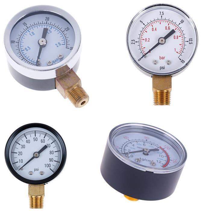 1 pièce manomètre basse pression pour carburant Air pétrole gaz eau huile gaz mesure 22-25-40-50mm diamètre~TS-Y50I 0 -3*YI2241