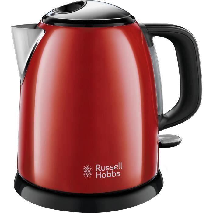 RUSSELL HOBBS 24992-70 Bouilloire Compacte Colours Plus Capacité 1 L Filtre Anti-Calcaire Amovible Lavable - Rouge