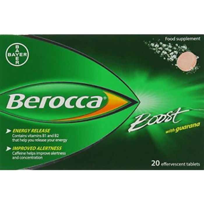 Berocca Boost Effervescent Energy Vitamin - Pack of 20 Tablets