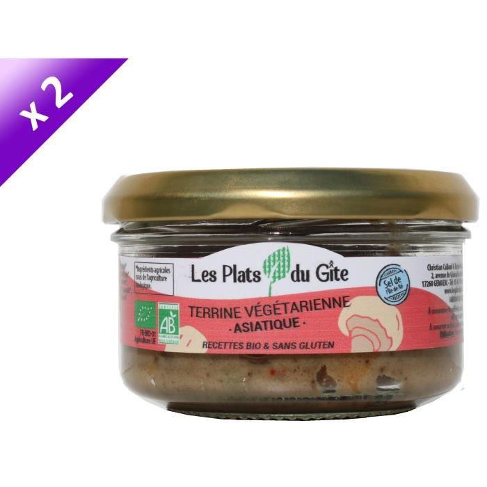 [LOT DE 2] LES PLATS DU GITE Terrine Végétarienne Asiatique - Bio - Végan - 120 g