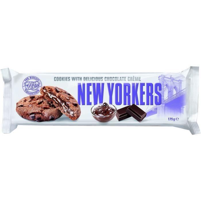 NEW YORKERS Cookies Fourrés aux Saveur Chocolat Noir - 175 g