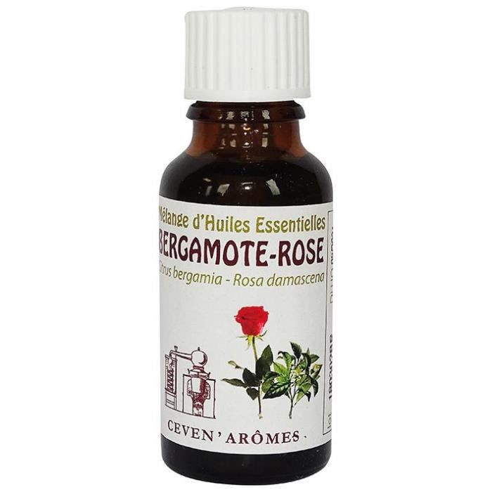 CEVEN AROMES Mélange éveil tonique d'huiles essentielles Bergamote rose - 20 ml