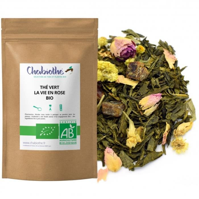CHABIOTHE Thé vert La Vie en Rose Bio 200g