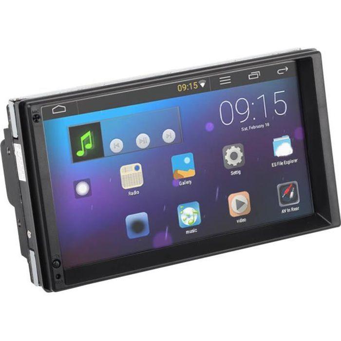 Cuque Lecteur audio d'autoradio Voiture 7' 2 Din pour Android 10.0 Radio Stéréo Lecteur MP5 avec Navigation GPS Multimédia BT