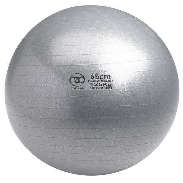 125Kg Swiss Ball pompe incluse - 65cm gris
