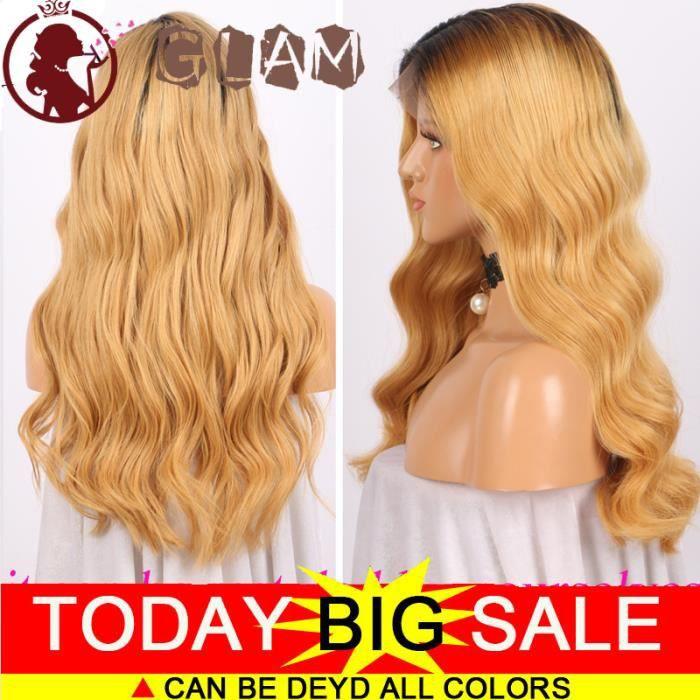 ombre perruque femme lace front wig REMY cheveux naturel brésilienne 18pouces(45cm)cheveux 100% mèche humains